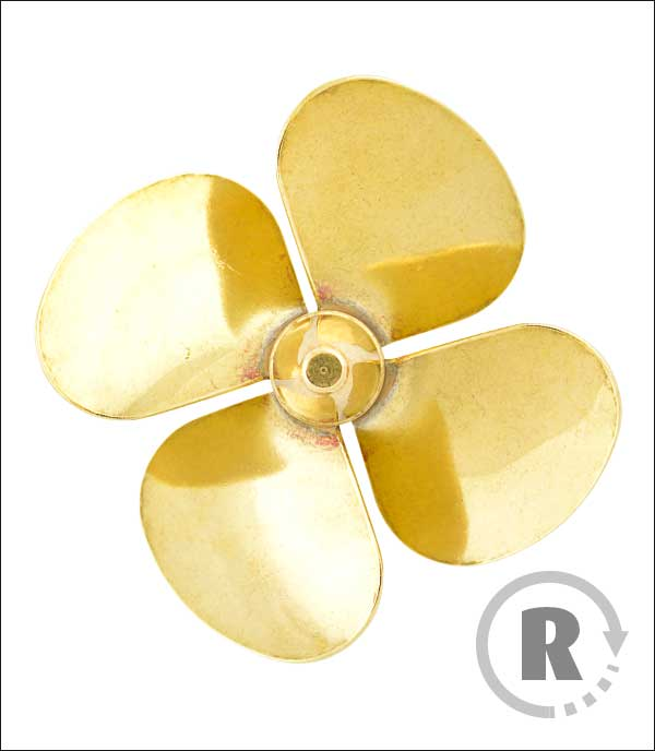 Brass Propeller Metric 183 Series Lextek Modellwerft