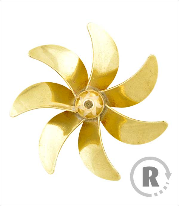 Brass Propeller Metric 185 Series Lextek Modellwerft